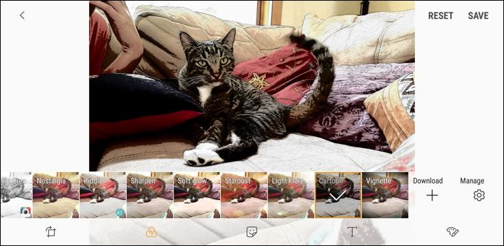 cartoon filter, android photo editor samsung