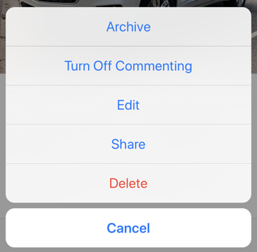 instagram edit options iphone mobile
