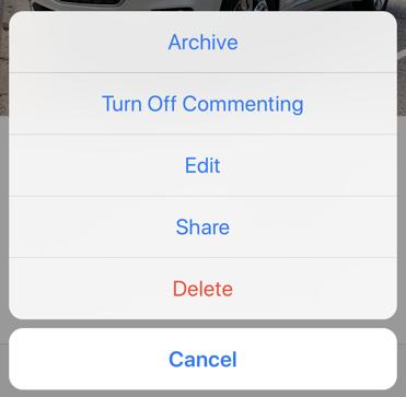 instagram edit options iphone mobile