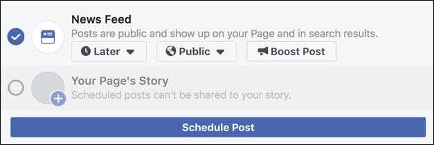 facebook - schedule post