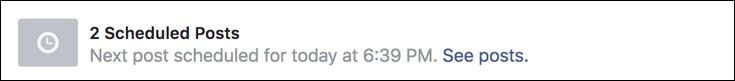 facebook post scheduled