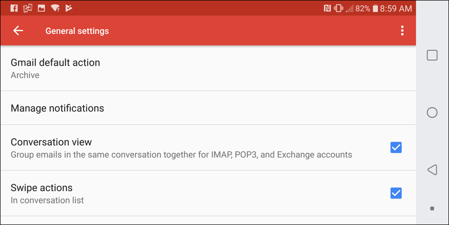 gmail for mobile - disable turn off stop conversation view threading