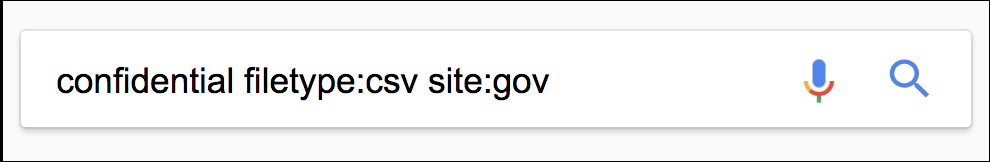 google search confidential data on government web sites