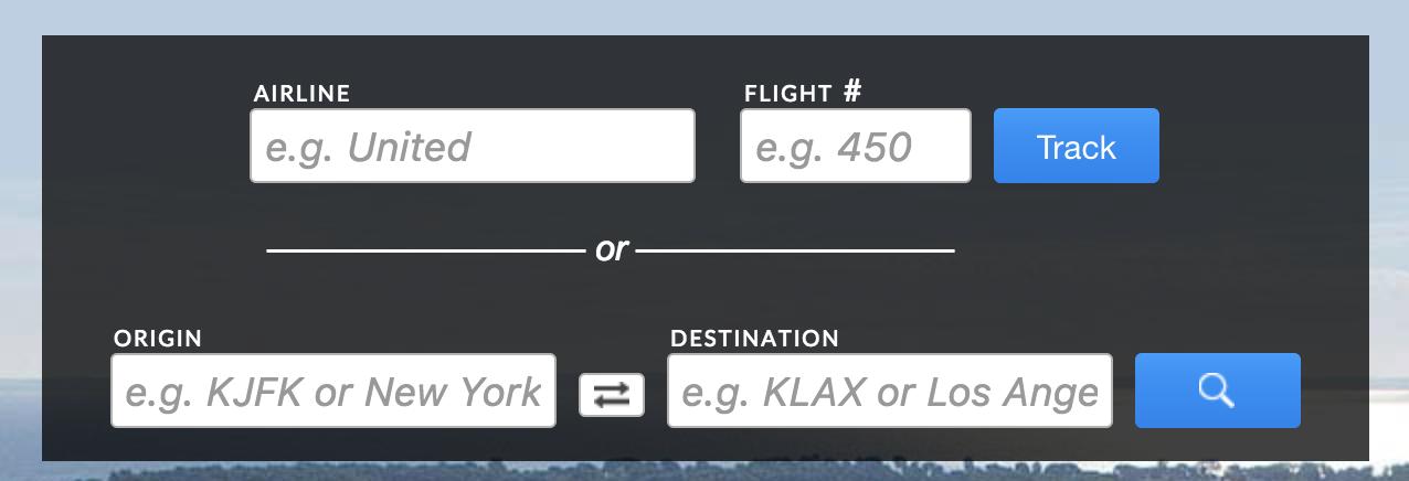flightaware enter flight info