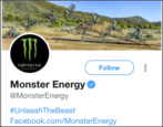 find twitter account company monster energy