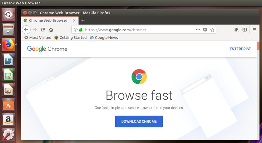 google chrome, in firefox, linux