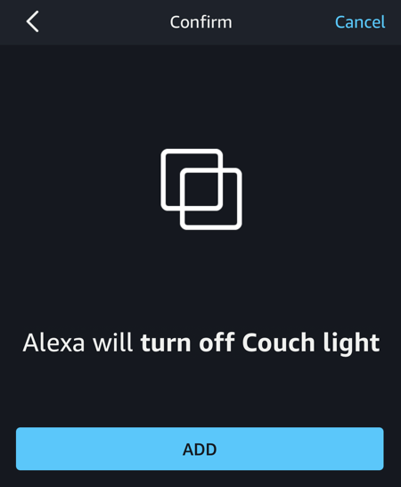 alexa will turn off couch light