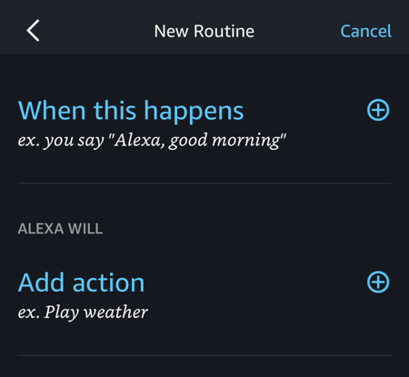 amazon alexa create routine 1