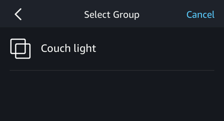 amazon alexa app - select group smart home