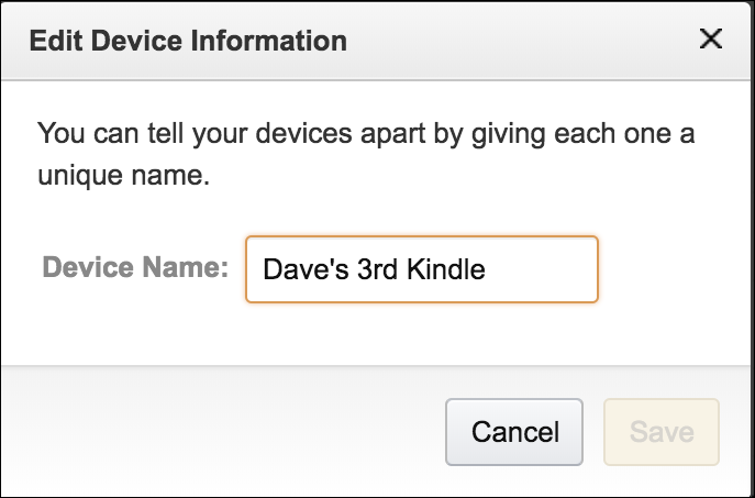 How do I rename my new Kindle Paperwhite? - Ask Dave Taylor