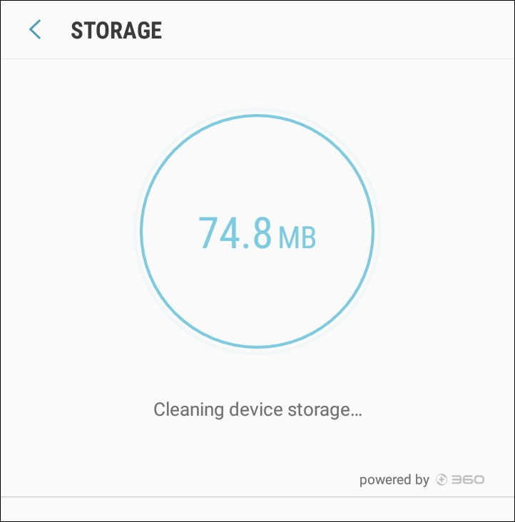 android samsung clean up cache