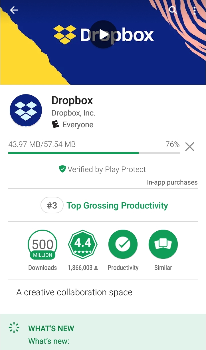 google play store android dropbox download