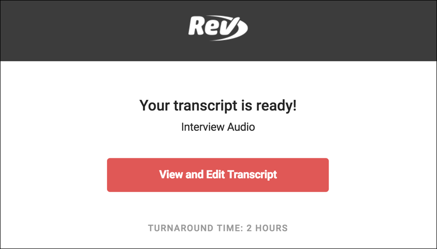your audio file transcript is ready done