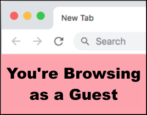 google chrome guest incognito modes