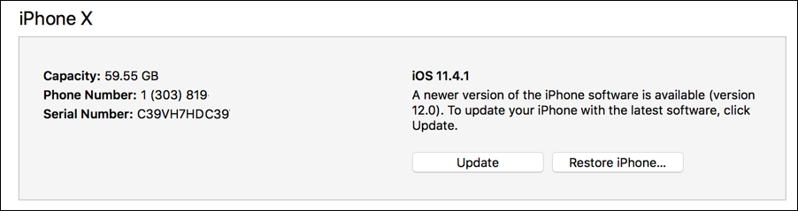 ios12 update available itunes iphone