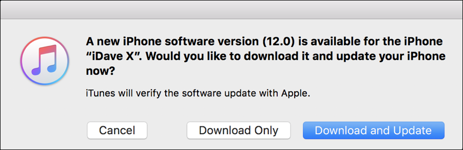 new version of ios - update?