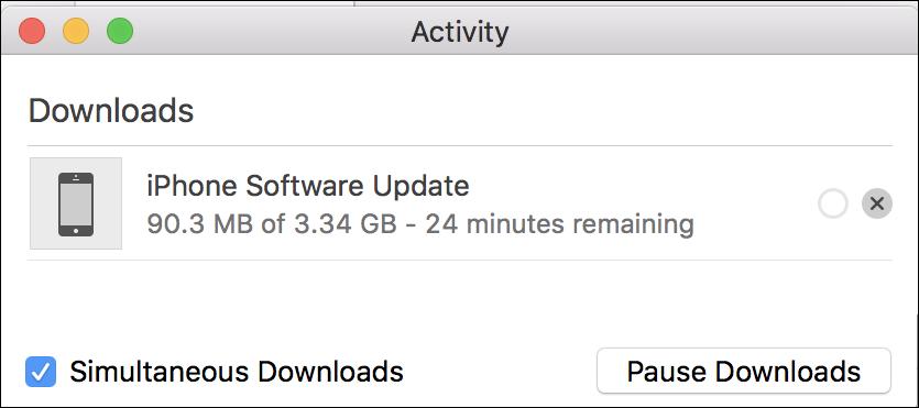 downloading ios12