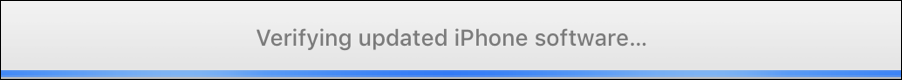 verifying update with apple