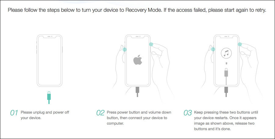 how to restart your iPhone X recovery mode