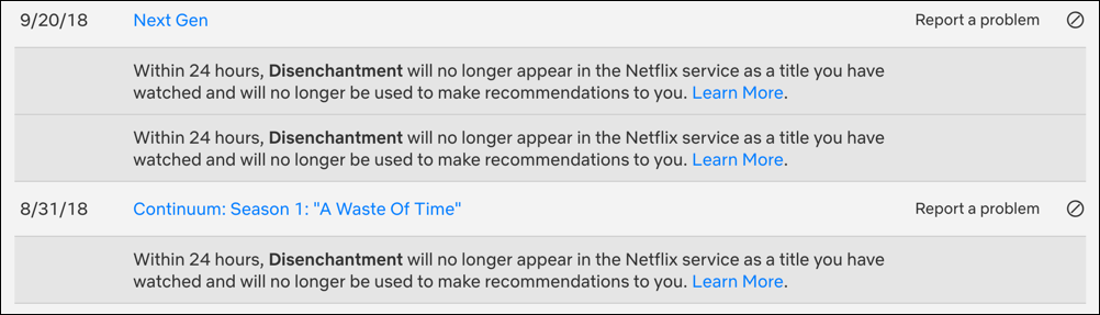 remove series from netflix watch history