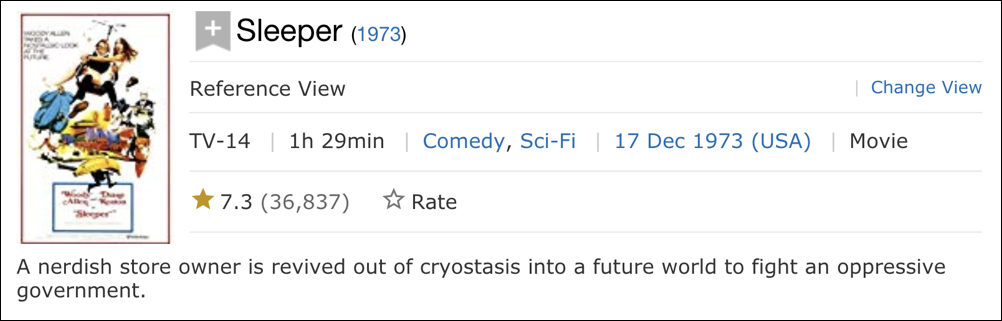 woody allen sleeper - imdb info