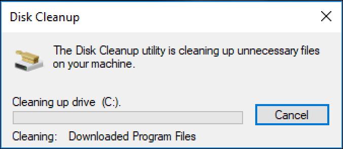 win10 deleting temp files