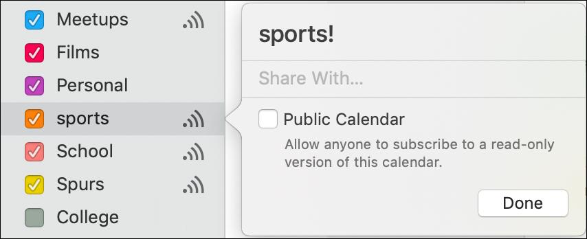 share apple calendar ical