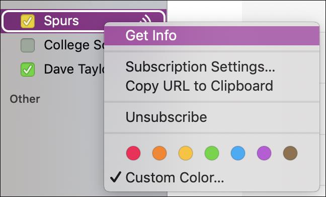 context menu, shared calendar, ical