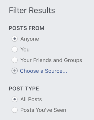 facebook search - posts from anyone you