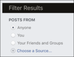 facebook custom advanced search old posts pages updates