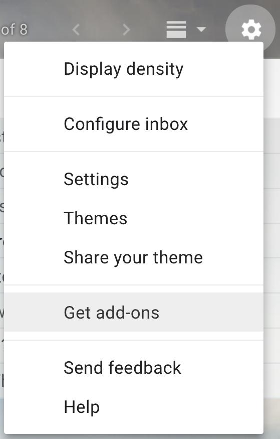 gmail - main menu