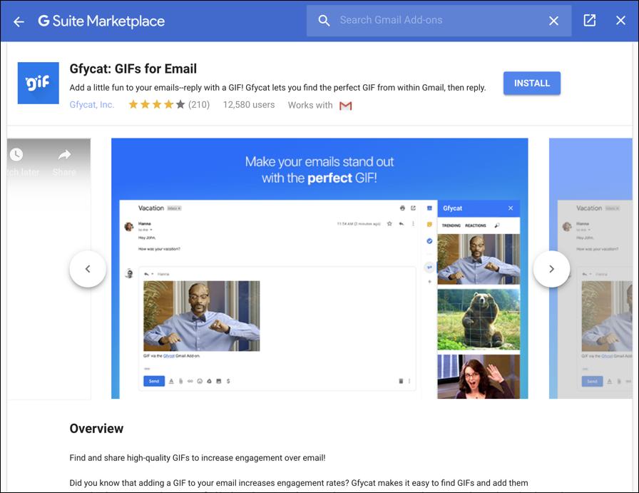 gfycat plug-in gmail