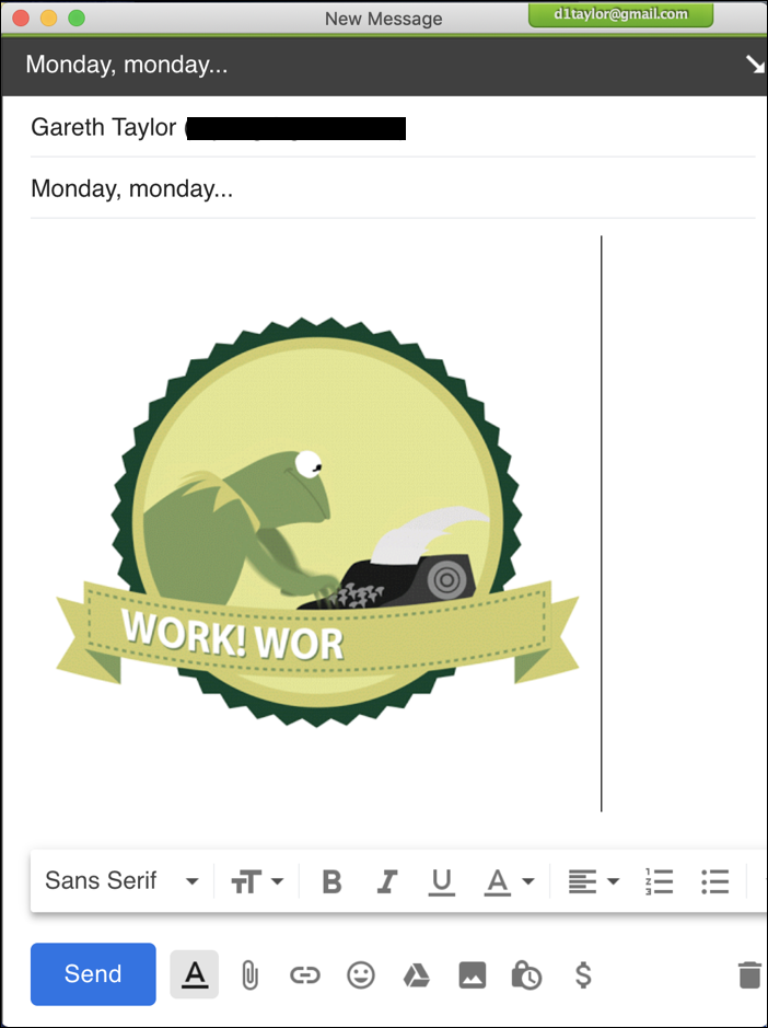 email with animated GIF added - gfycat