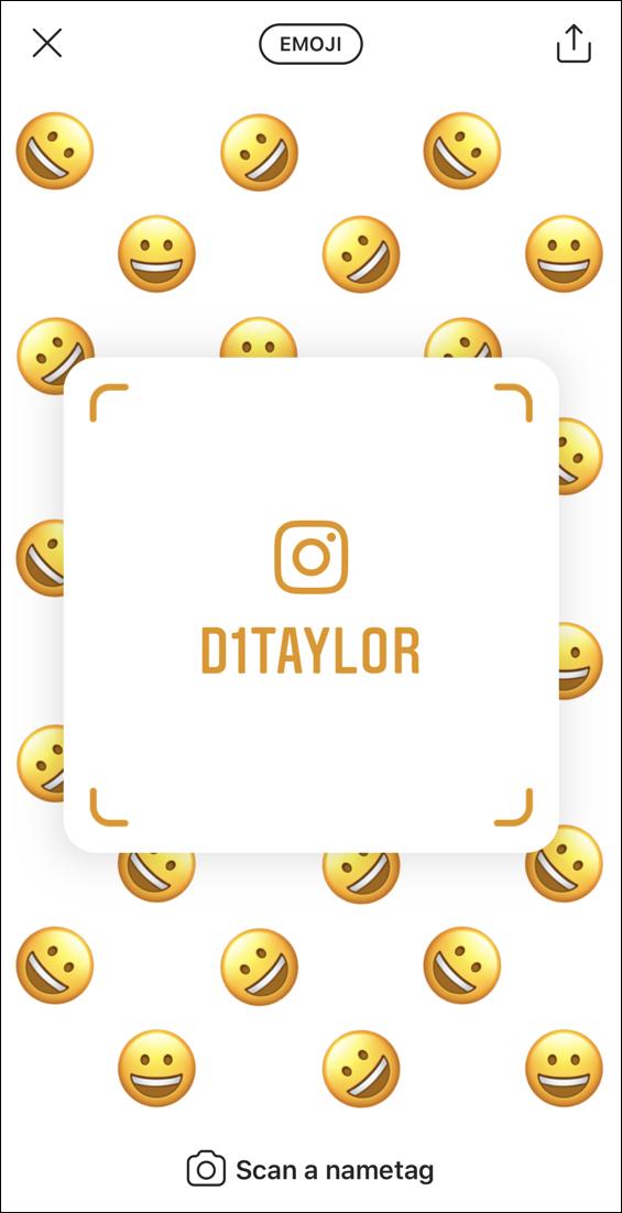 instagram nametag emoji
