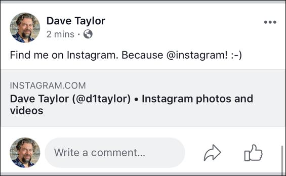 facebook bad instagram share