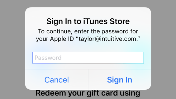 iphone ios12 sign in itunes store