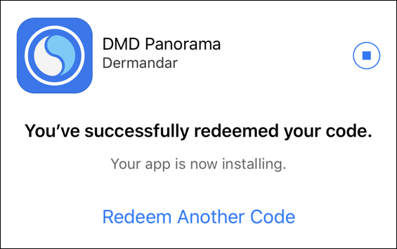 successfully redeemed, downloading itunes app store code