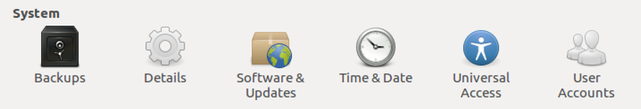 system settings - ubuntu linux