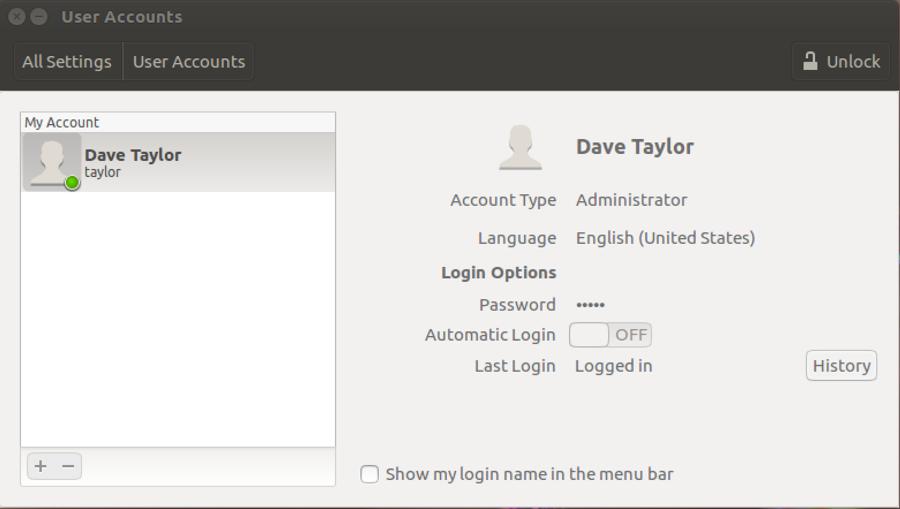 ubuntu linux: user accounts