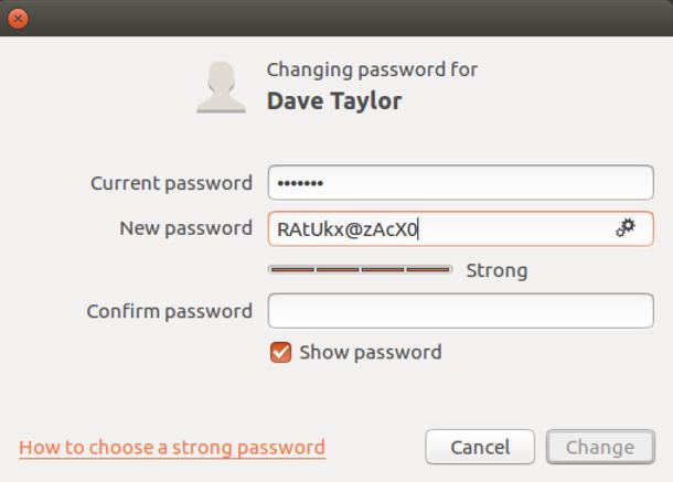 ubuntu linux password generator