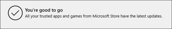 win10 all apps up to date