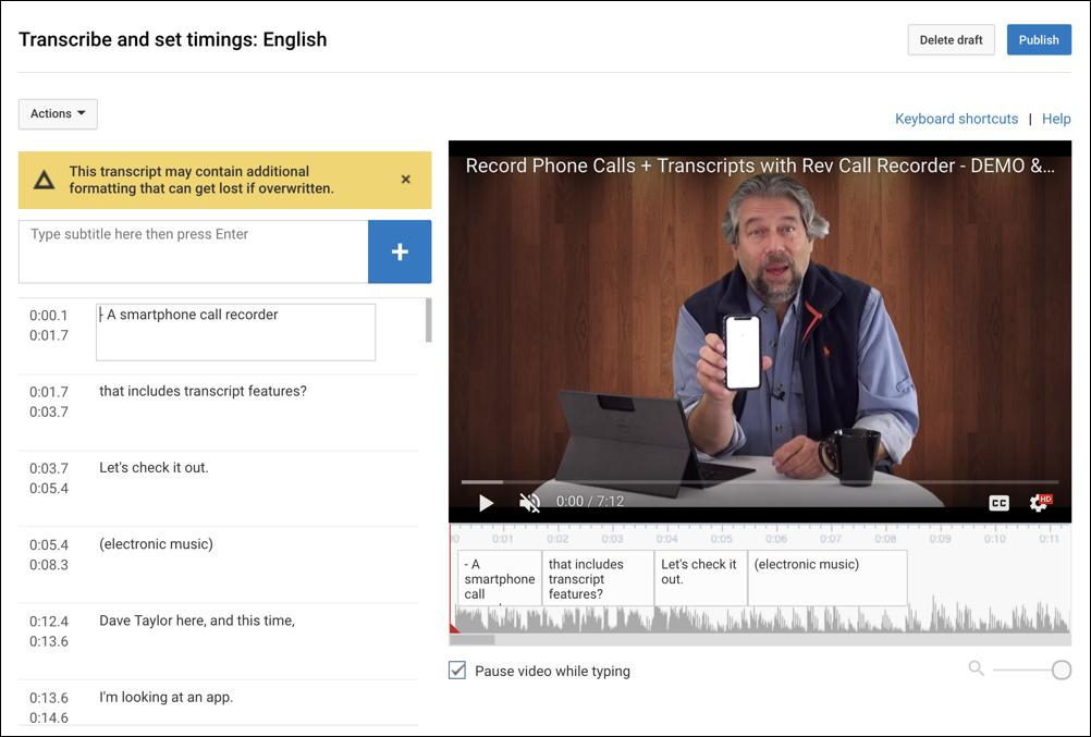 youtube closed captioning subtitles uploaded ready to edit