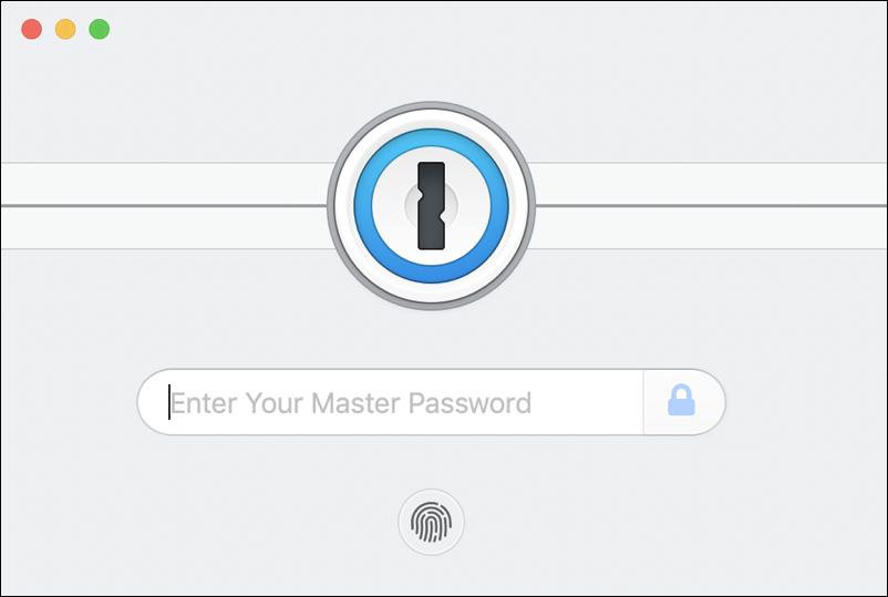 1password lock screen window