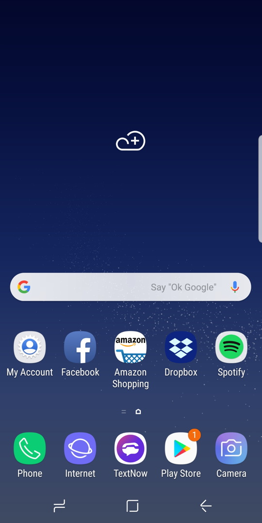 samsung experience - android - basic home screen