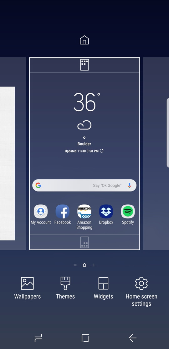 android - samsung experience - edit home screen