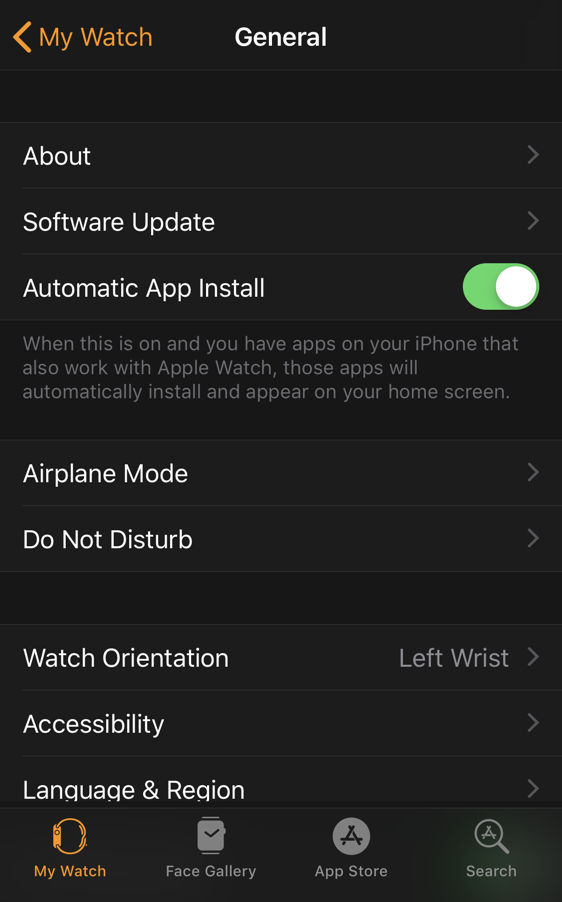 watch app iphone updates