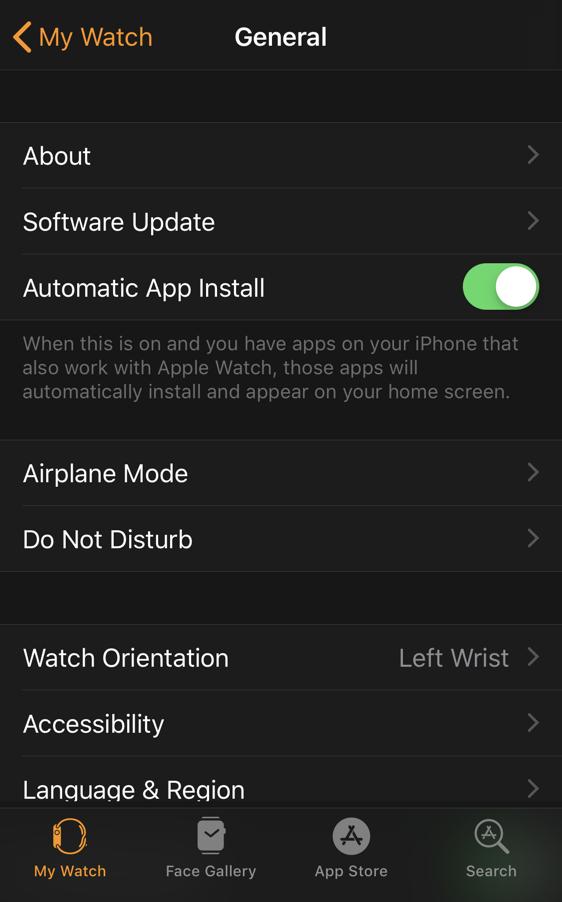 watch app iphone updates