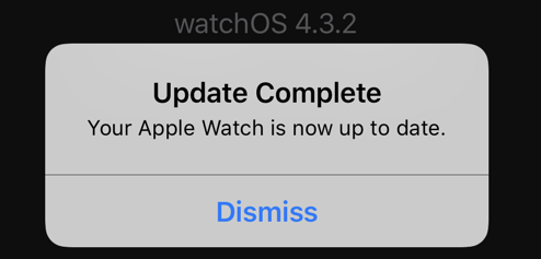 apple watch - update complete