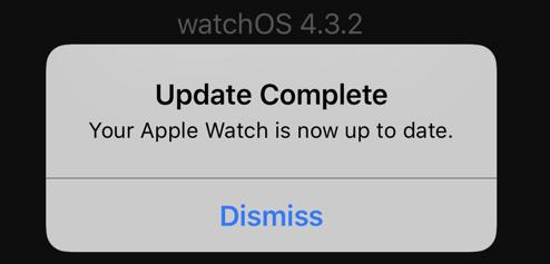 apple watch - update complete