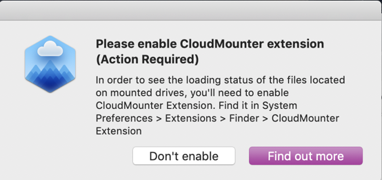 Mac enable cloudmounter extension finder